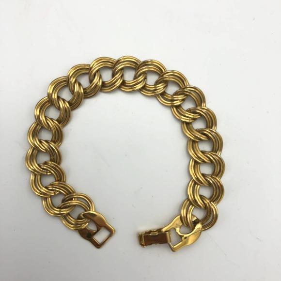Monet Chic Gold Tone Double Link Chain Bracelet